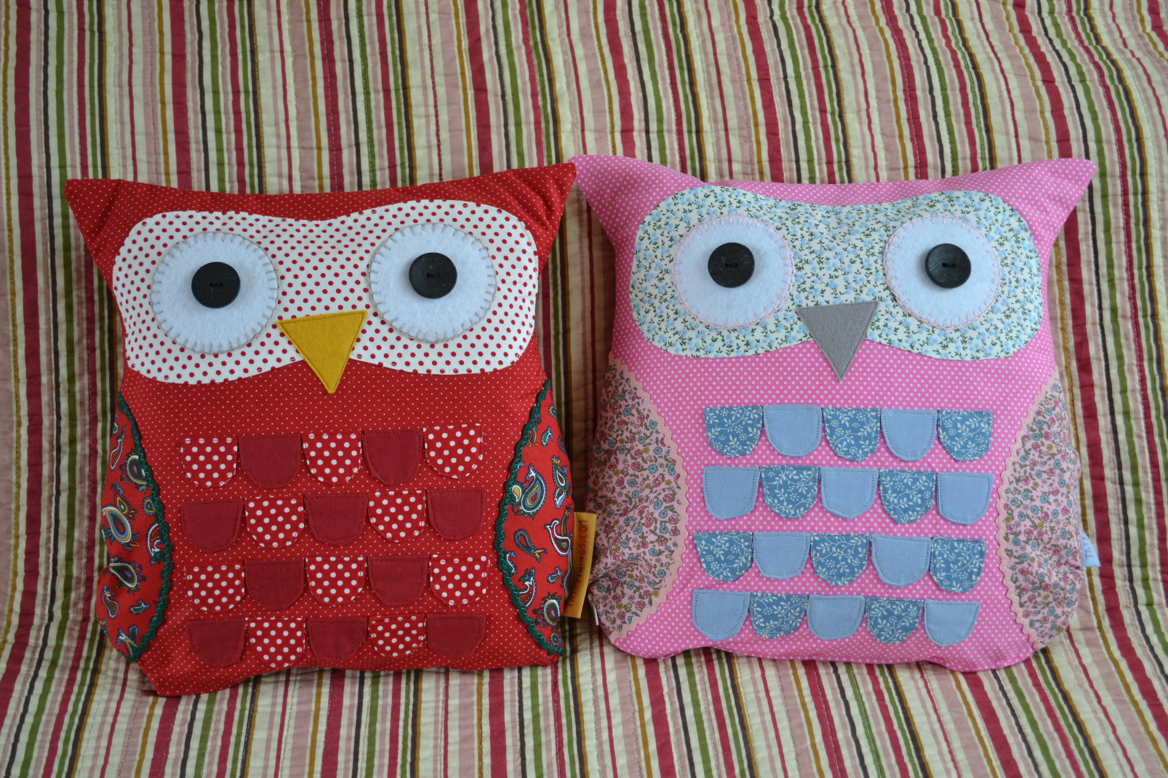 Red & Pink Owls