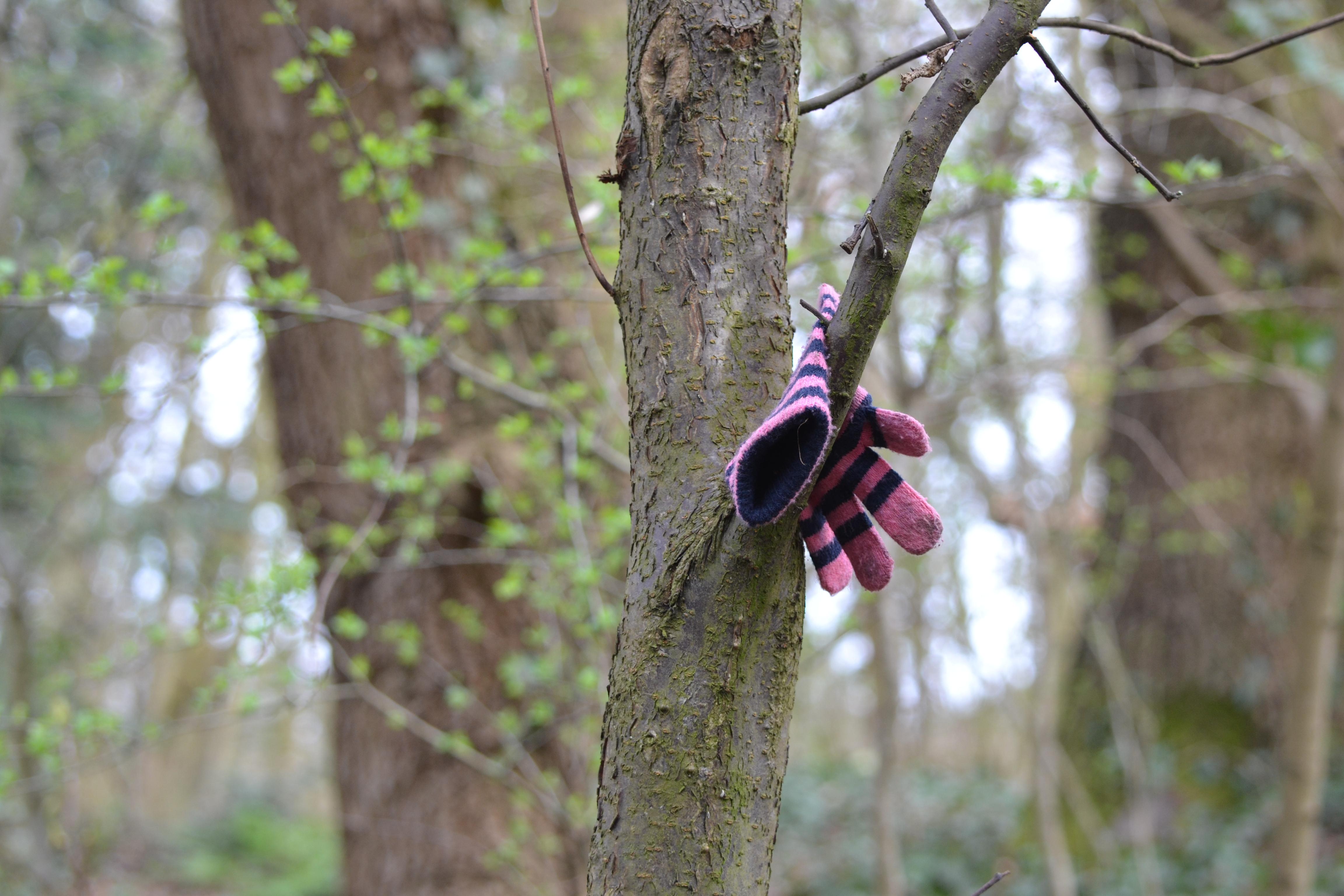 Stripey glove