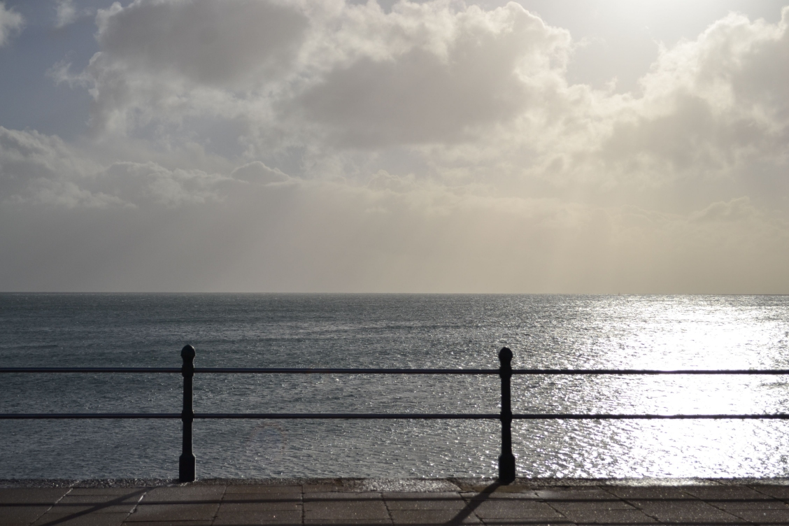 Sea and railings