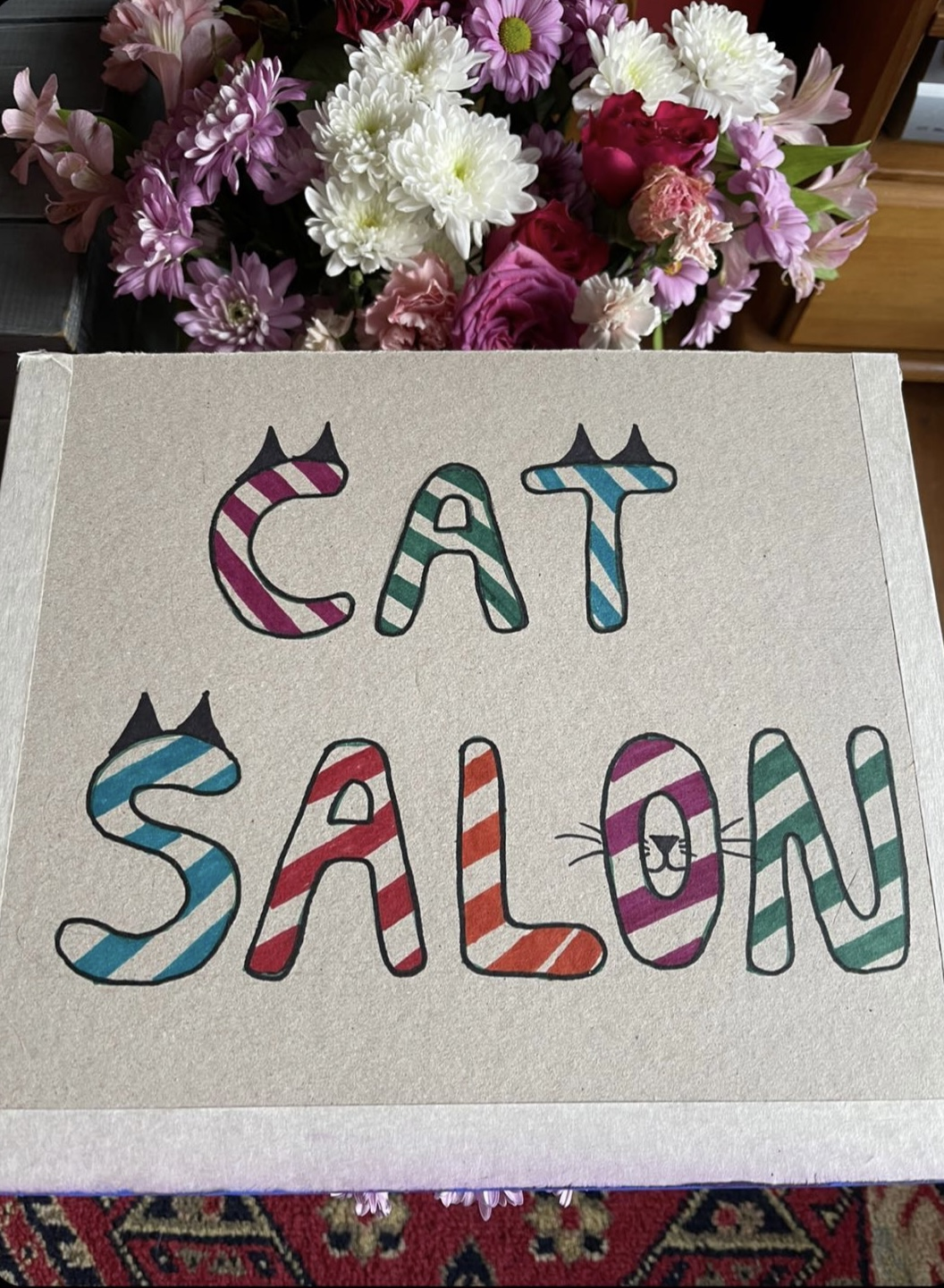 CatSalonFlowers